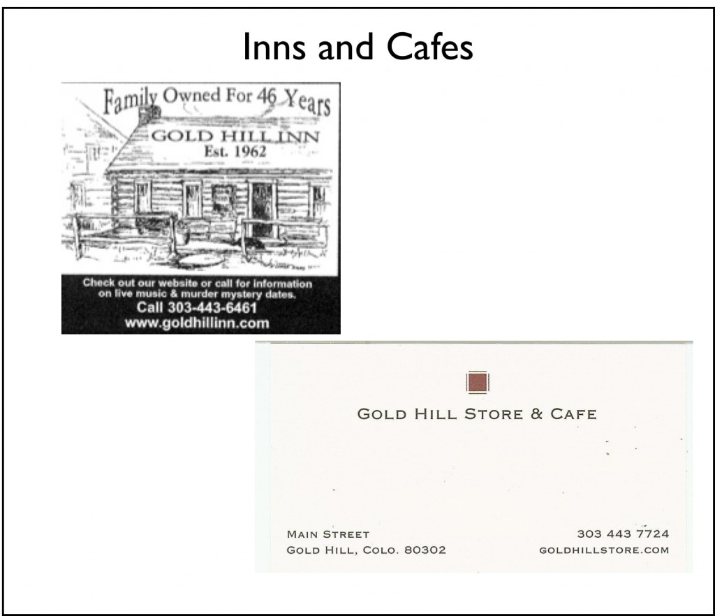 Inns and Cafes