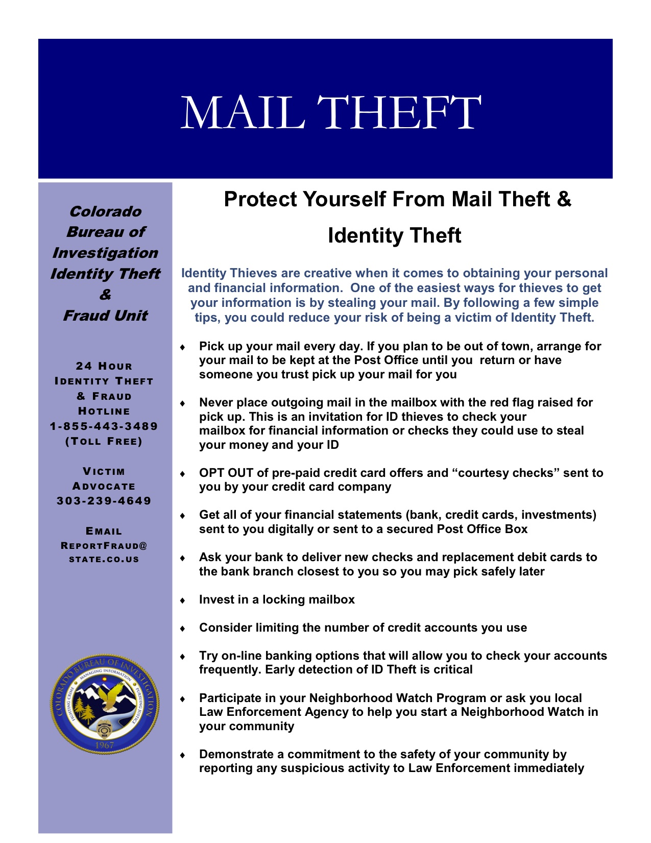 How to Report Mail Theft images